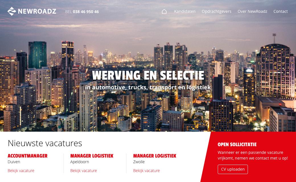 Website voorbeeld: NewRoadz