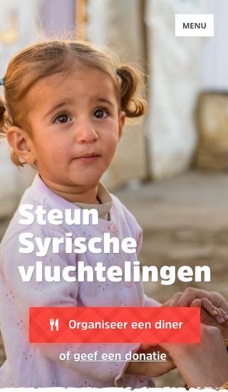Website voorbeeld: Campagnewebsite voor vluchtelingen uit Syrië