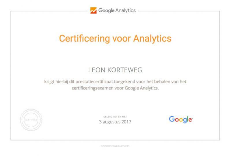 google-analytics-certificering-leon-korteweg