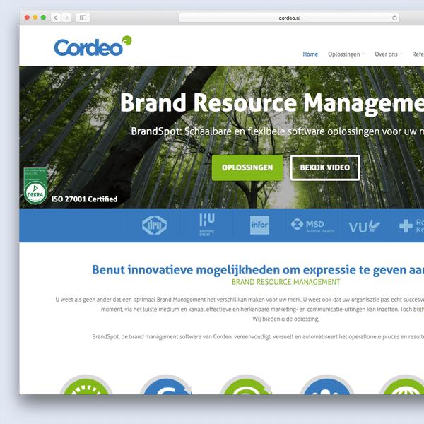 Website voorbeeld Cordeo
