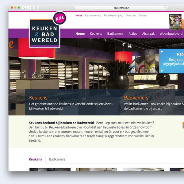 Website voorbeeld Keuken & Badwereld