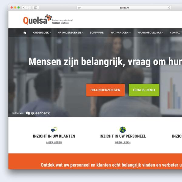 Website voorbeeld Quelsa