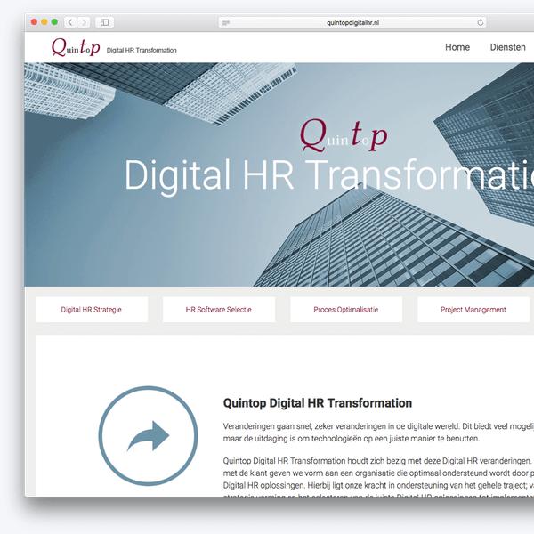 Website voorbeeld Quintop