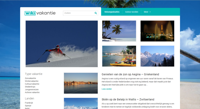 Website Wiki Vakantie