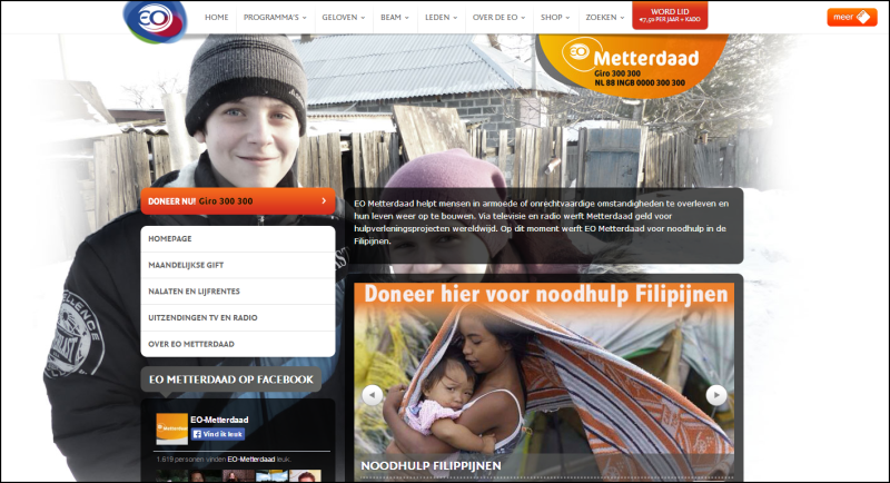 Website Stichting EO Metterdaad