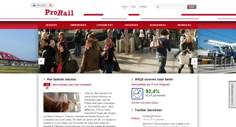 Google Analytics voor ProRail