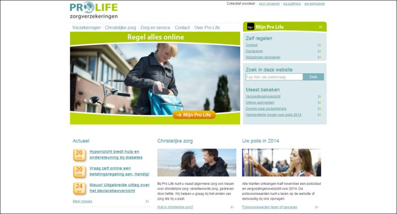 Website van Pro Life