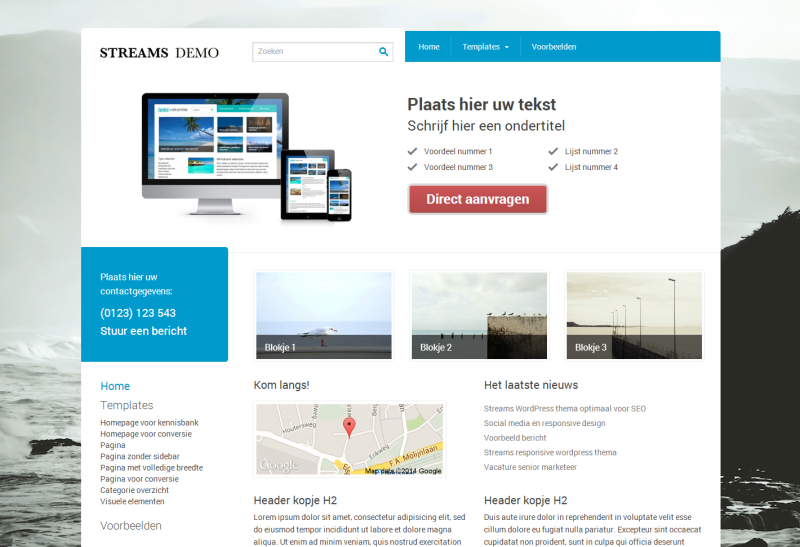 WordPress thema 'Streams'