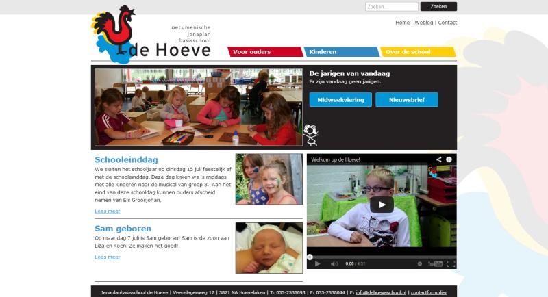 Website van basisschool De Hoeve
