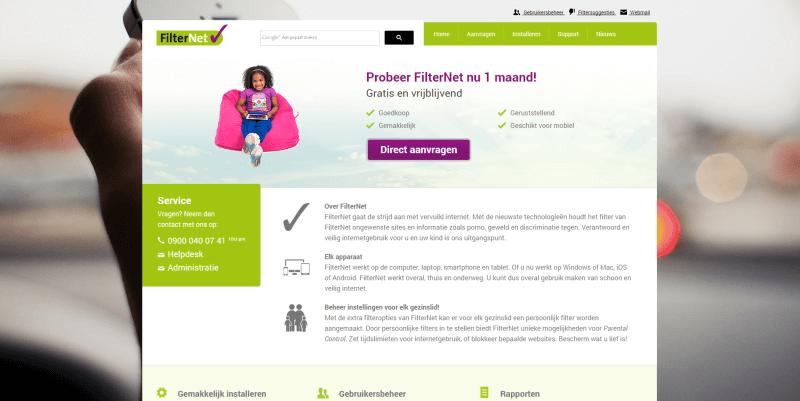Nieuwe website FilterNet
