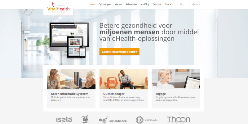 Nieuwe website VitalHealth Software