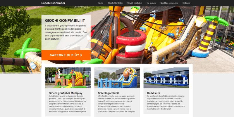 Nieuwe Italiaanse website voor JB Inflatables