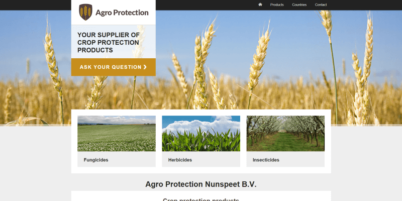 Nieuwe website Agro Protection