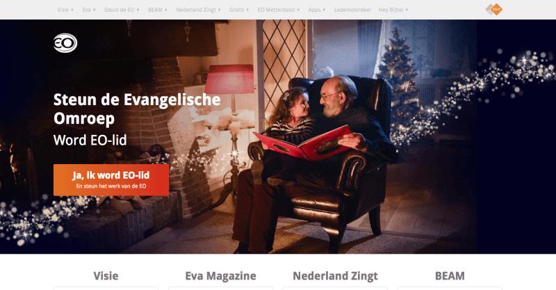EO website voorbeeld
