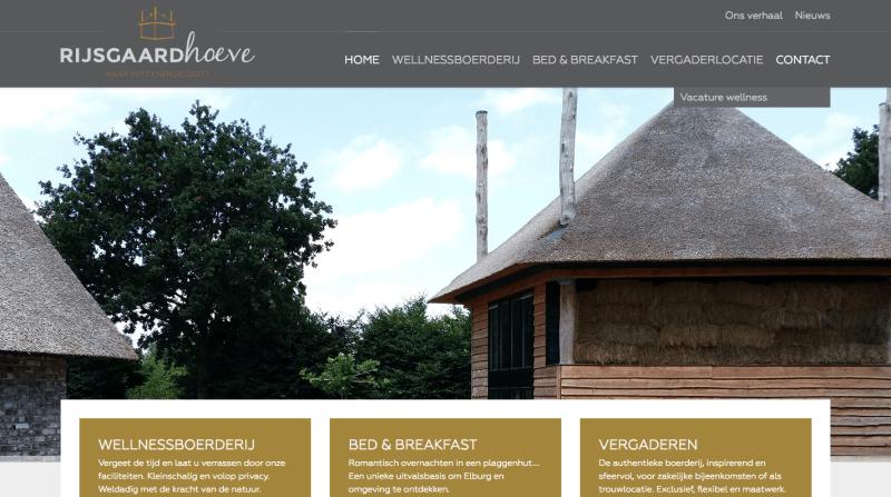 Rijsgaardhoeve website voorbeeld